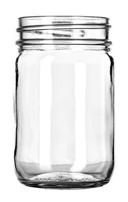 a glass mason jar